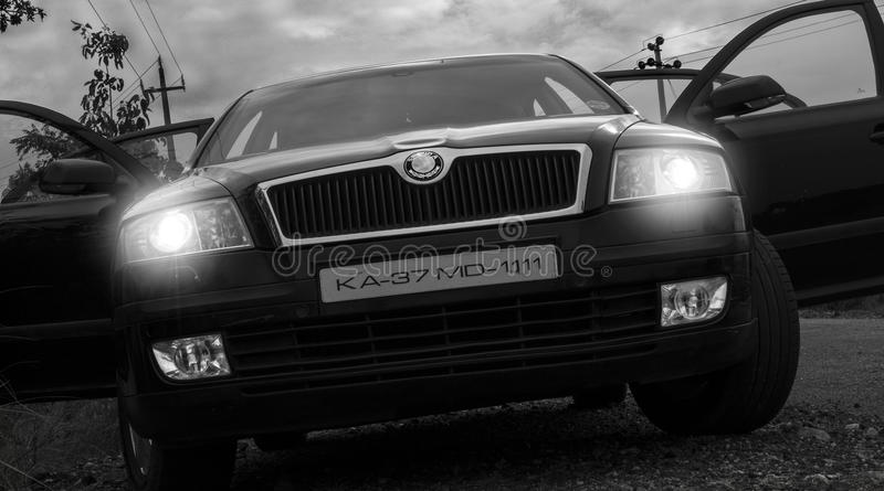 Skoda роскоши автомобиля стоковое изображение rf
