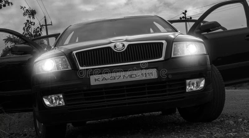 Skoda del lujo del coche imagen de archivo libre de regalías