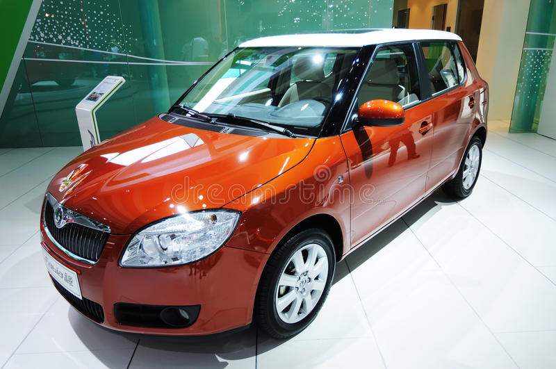 Skoda fabia. Road to China's West - 13th Chengdu Motor Show,September 18th-24th,2010 stock image