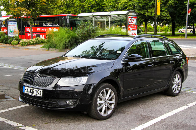 Skoda Octavia. DRESDEN, GERMANY - JULY 20, 2014: Motor car Skoda Octavia in the city street royalty free stock photo