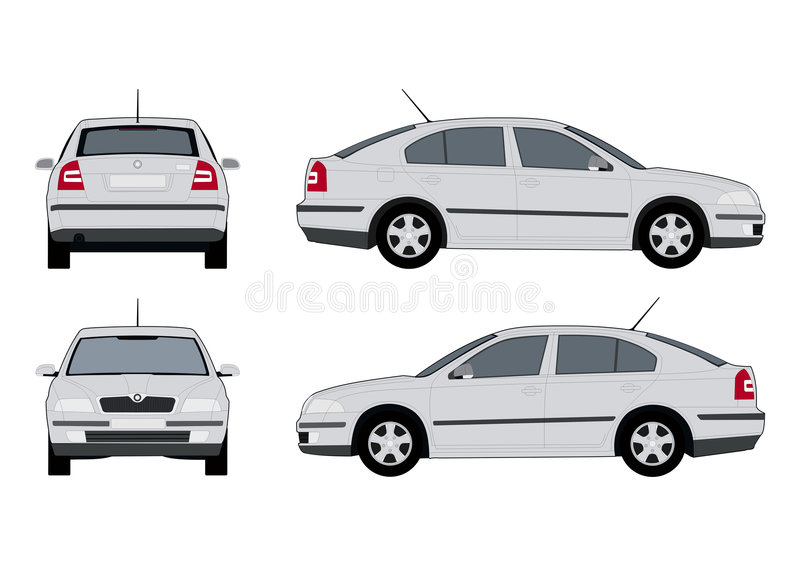 Skoda octavia2 vector illustratie