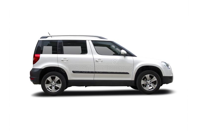 Skoda Yeti. Isolated on white stock images