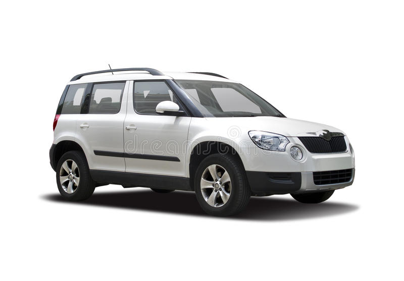 Skoda Yeti. On white royalty free stock photos