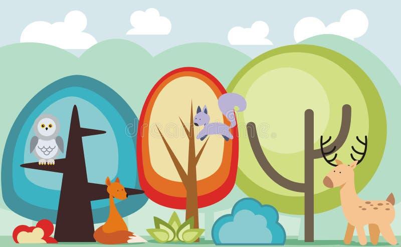 skog royaltyfri illustrationer