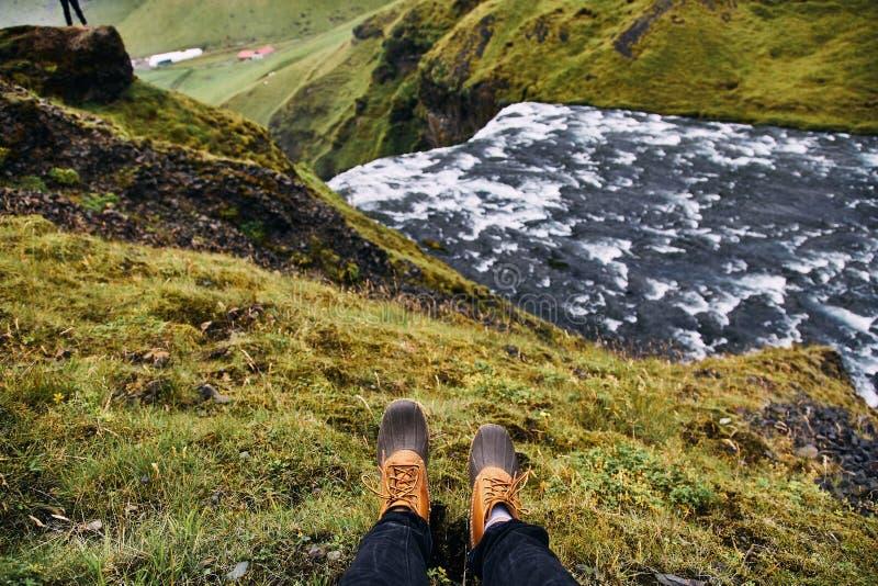 Skoga rzeka w południe Iceland zdjęcia royalty free