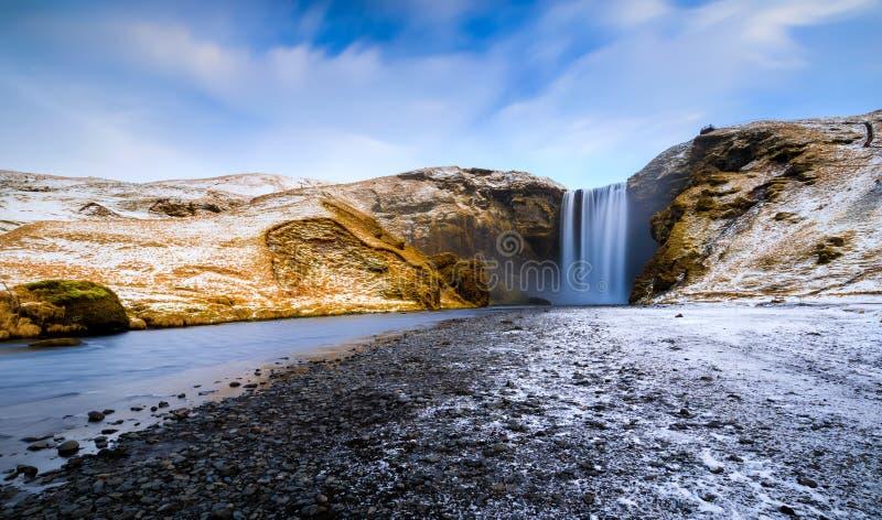 Skogafoss,瀑布, Skogar,冰岛 免版税库存照片