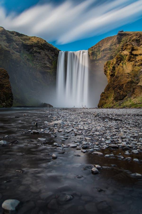Download Skogafoss stockbild. Bild von wasser, explore, massiv - 96932143