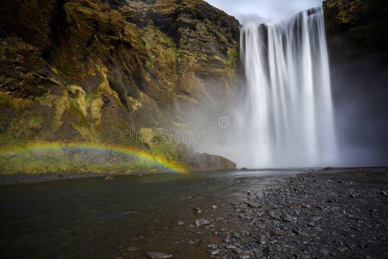Skogafoss Island lizenzfreie stockfotografie