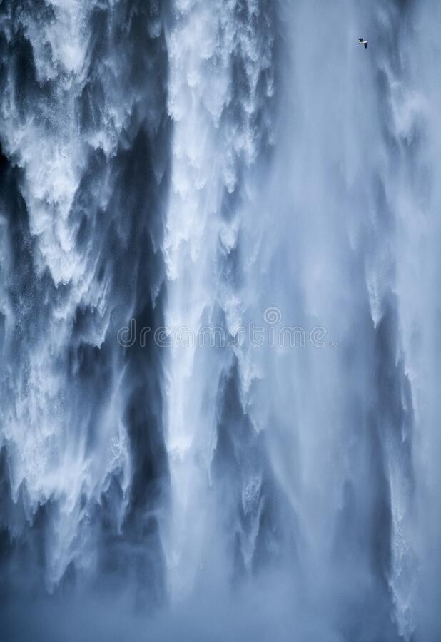 Free Skogafoss Waterfall As A Background. Natural Icelandic Background. Travelling On Iceland. Famouns Place In Iceland. Royalty Free Stock Photos - 179283388