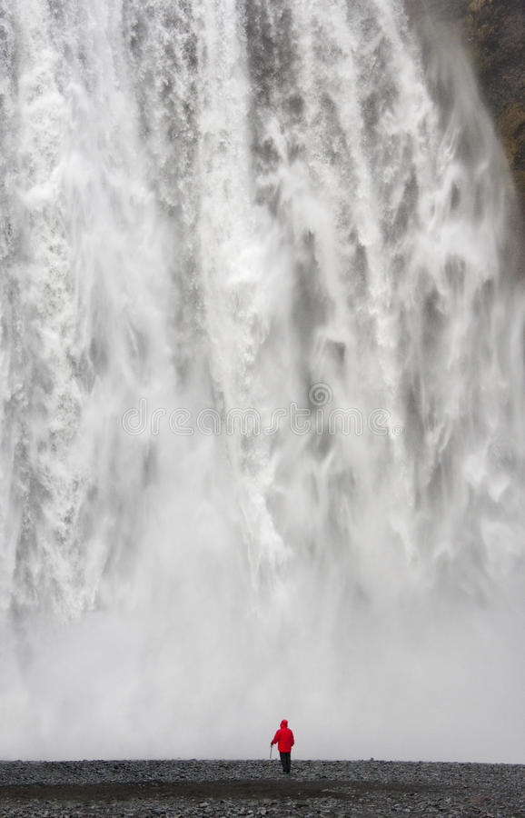 Skogafoss Waterfall - Iceland royalty free stock photography