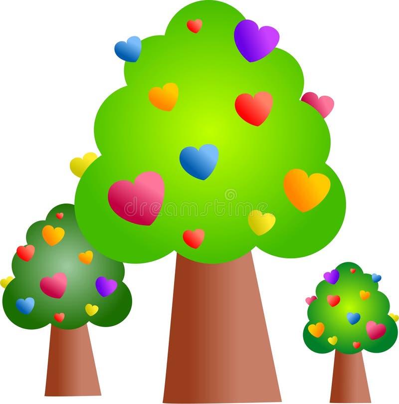 skogförälskelse royaltyfri illustrationer