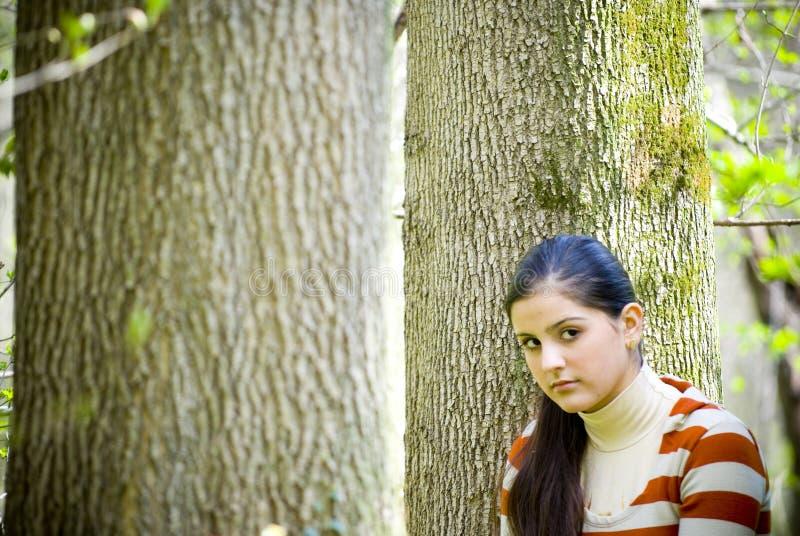 skogflicka arkivfoto