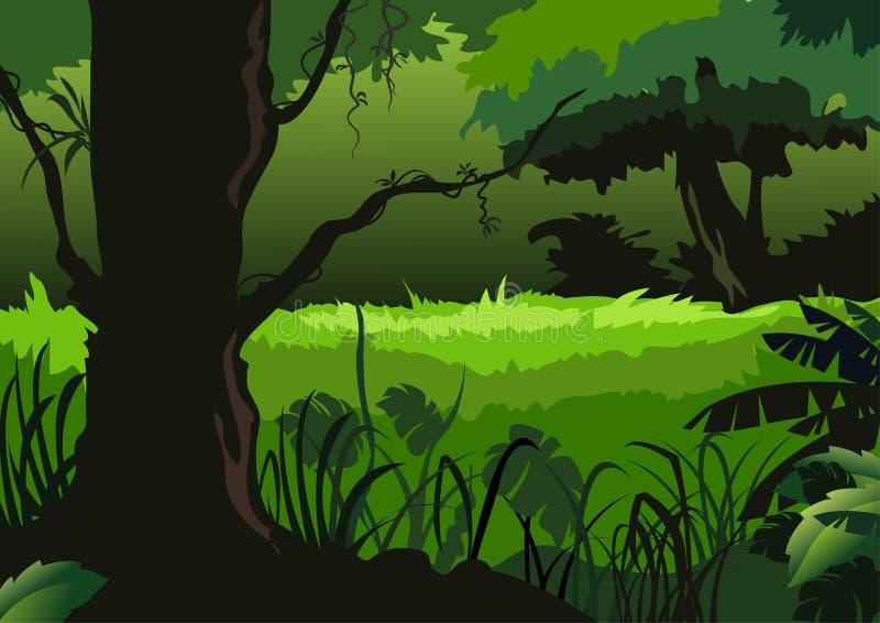 skoggreen stock illustrationer