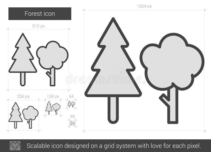 Skoglinje symbol royaltyfri illustrationer