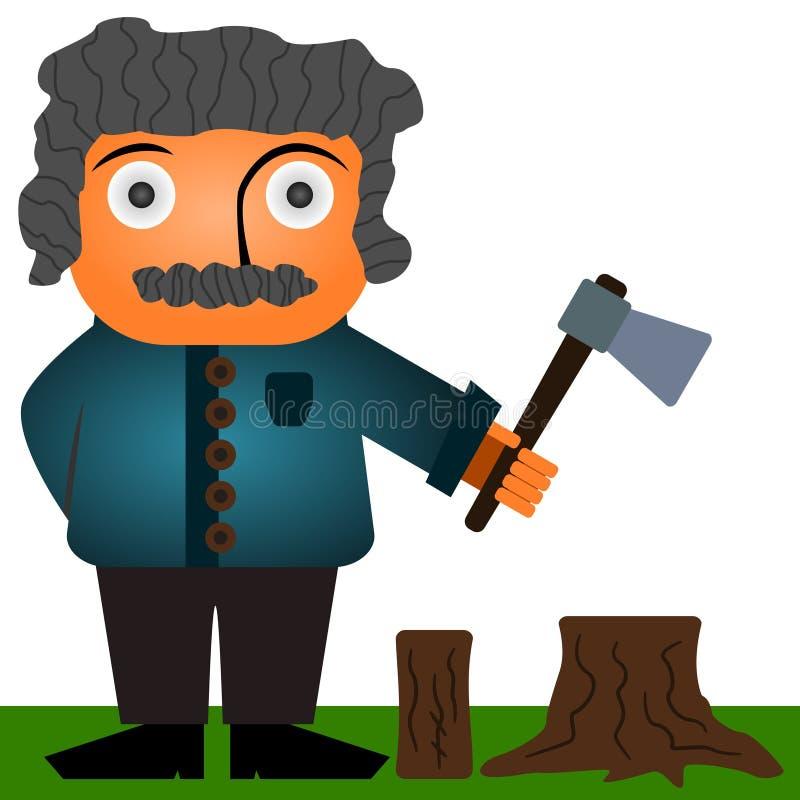 skogsarbetare vektor illustrationer