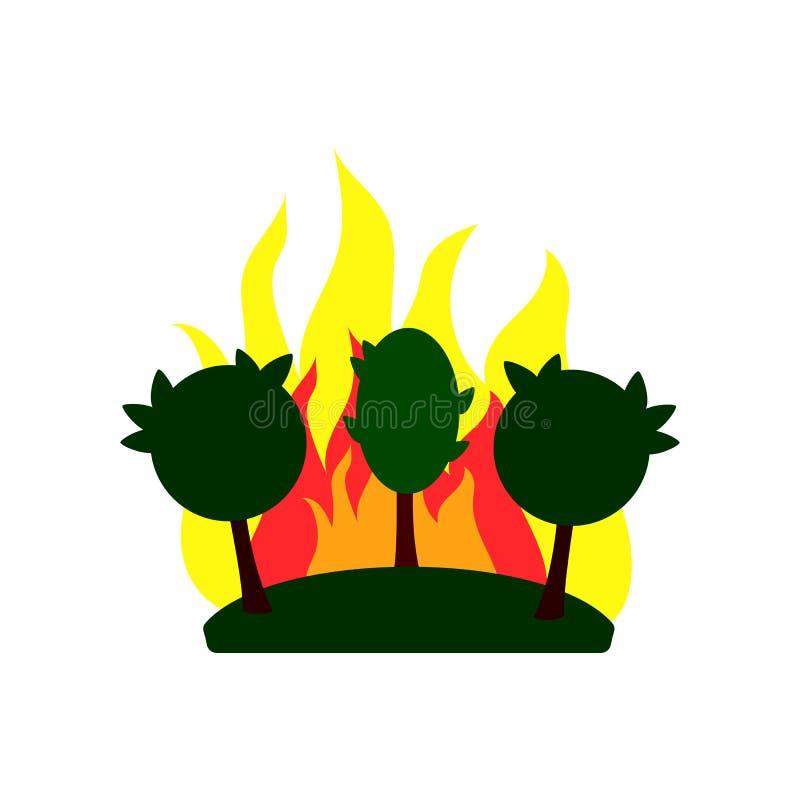 Skogsbrandsymbolen, skyddar naturen, vektorillustration arkivfoton