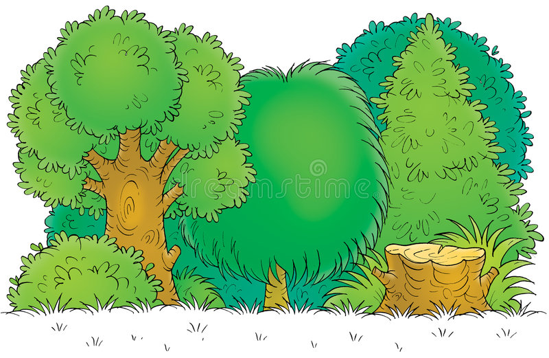 Skogsmark vektor illustrationer