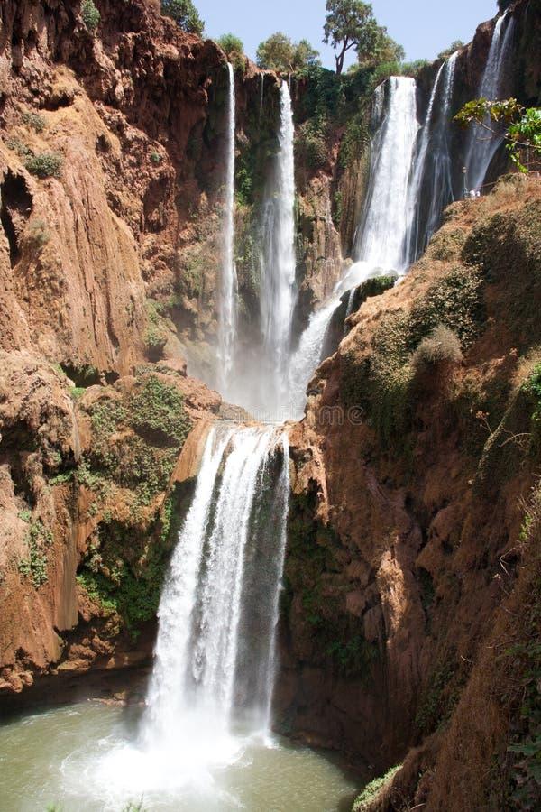 Skogvattenfall royaltyfria bilder