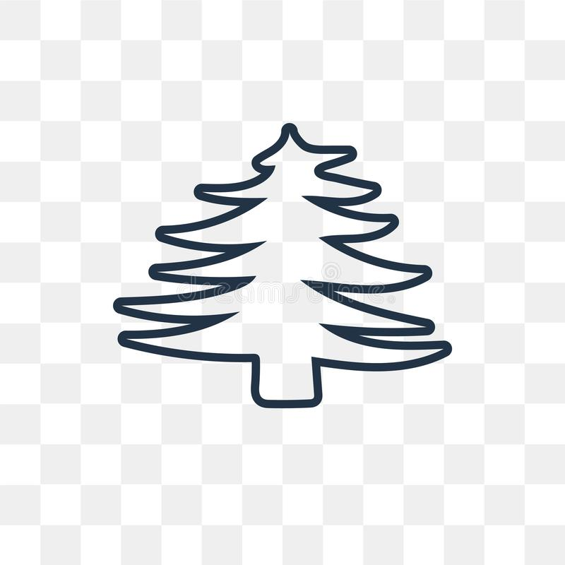 Skogvektorsymbol som isoleras på genomskinlig bakgrund, linjär Fo royaltyfri illustrationer