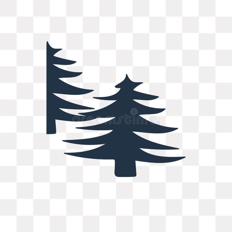 Skogvektorsymbol som isoleras på genomskinlig bakgrund, skog t stock illustrationer