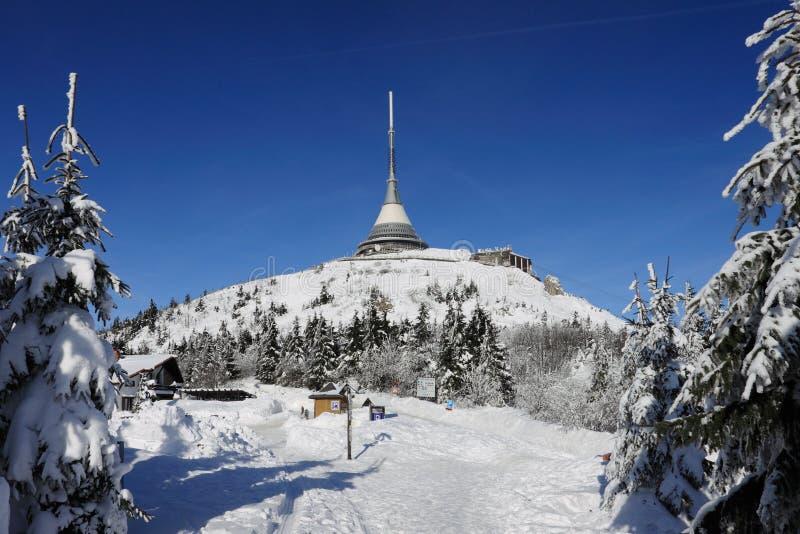 Skojat i vinter fotografering för bildbyråer