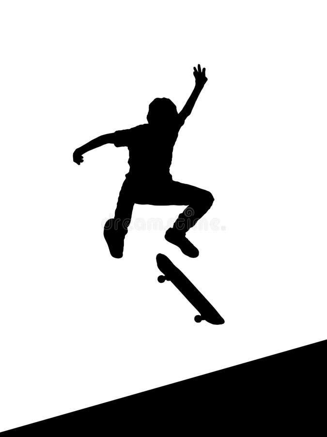 skok łyżwiarka ilustracji