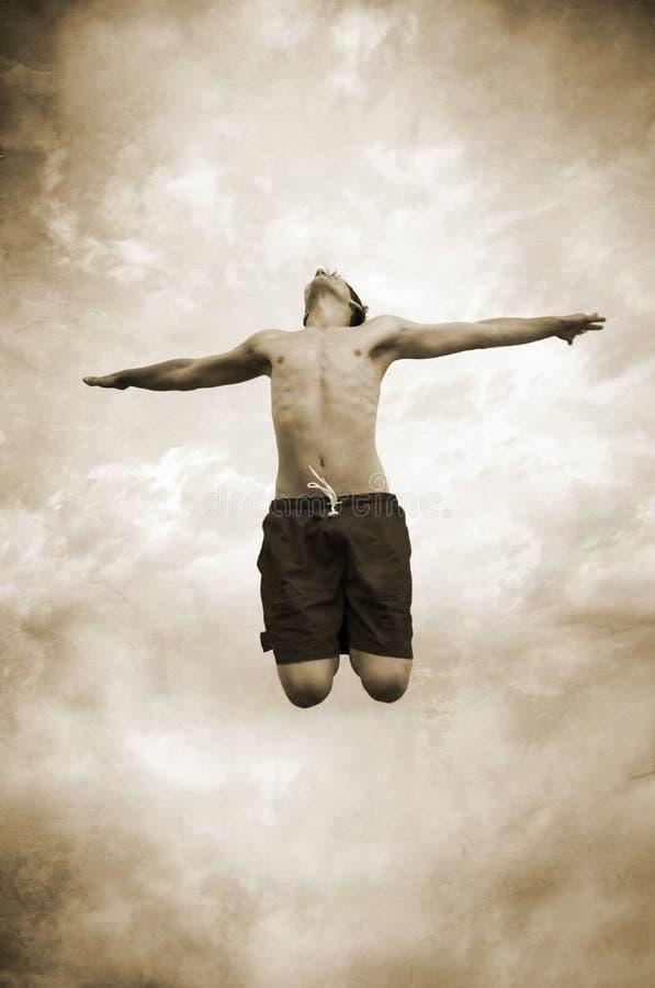 skok do nieba zdjęcia stock