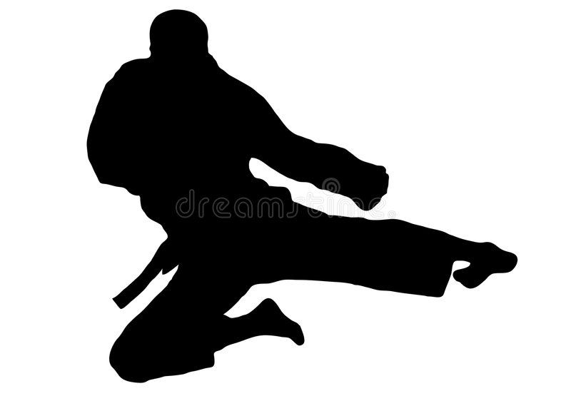 skok karate. ilustracja wektor
