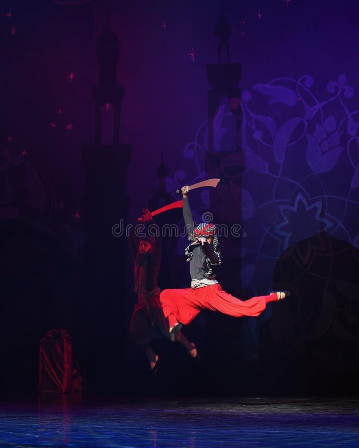 """Skok naprzód od up- baletniczego """"One Tysiąc i Jeden Nights† zdjęcie royalty free"""