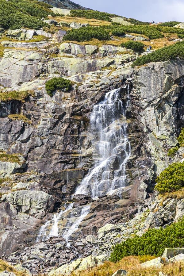 Skok waterfall in High Tatras Mountains Vysoke Tatry, Slovakia. Hiking in High Tatras Mountains Vysoke Tatry, Slovakia. Skok waterfall Slovak: Vodopad Skok stock photos