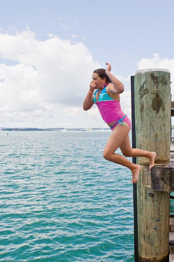skok z nabrzeża fotografia royalty free