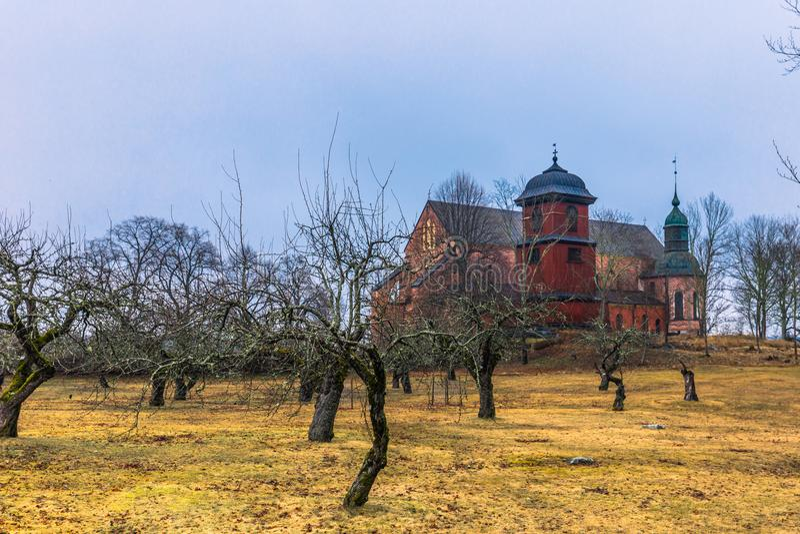 Skokloster Szwecja, Kwiecień, - 1, 2017: Skokloster kościół, Szwecja zdjęcia stock