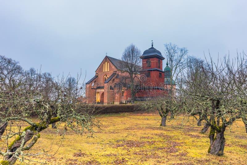 Skokloster Szwecja, Kwiecień, - 1, 2017: Skokloster kościół, Szwecja obrazy stock