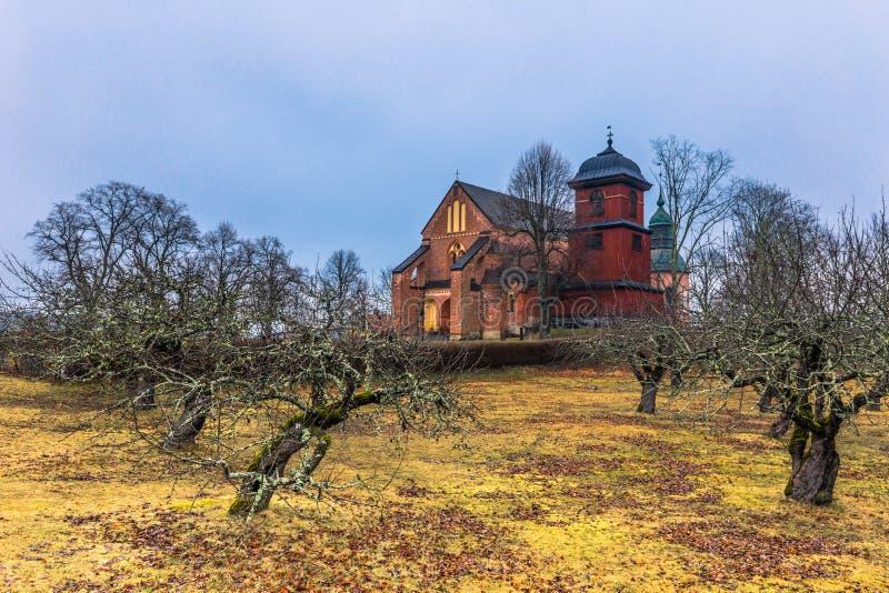 Skokloster Szwecja, Kwiecień, - 1, 2017: Skokloster kościół, Szwecja zdjęcie royalty free