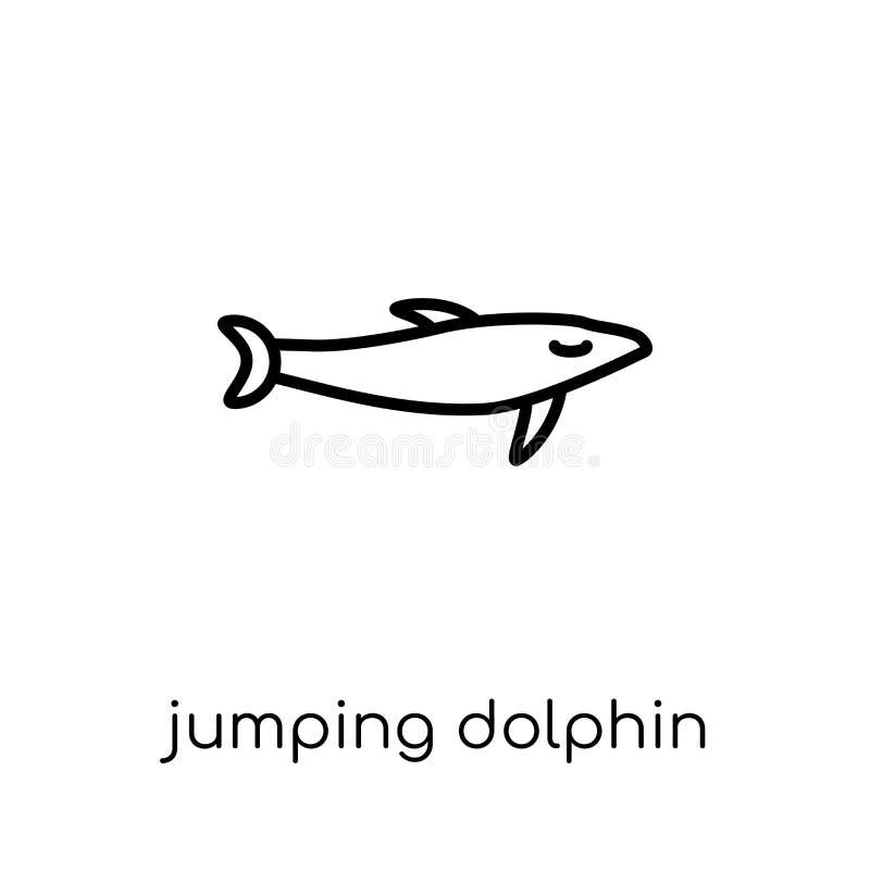 Skokowa delfin ikona od lato kolekcji ilustracji
