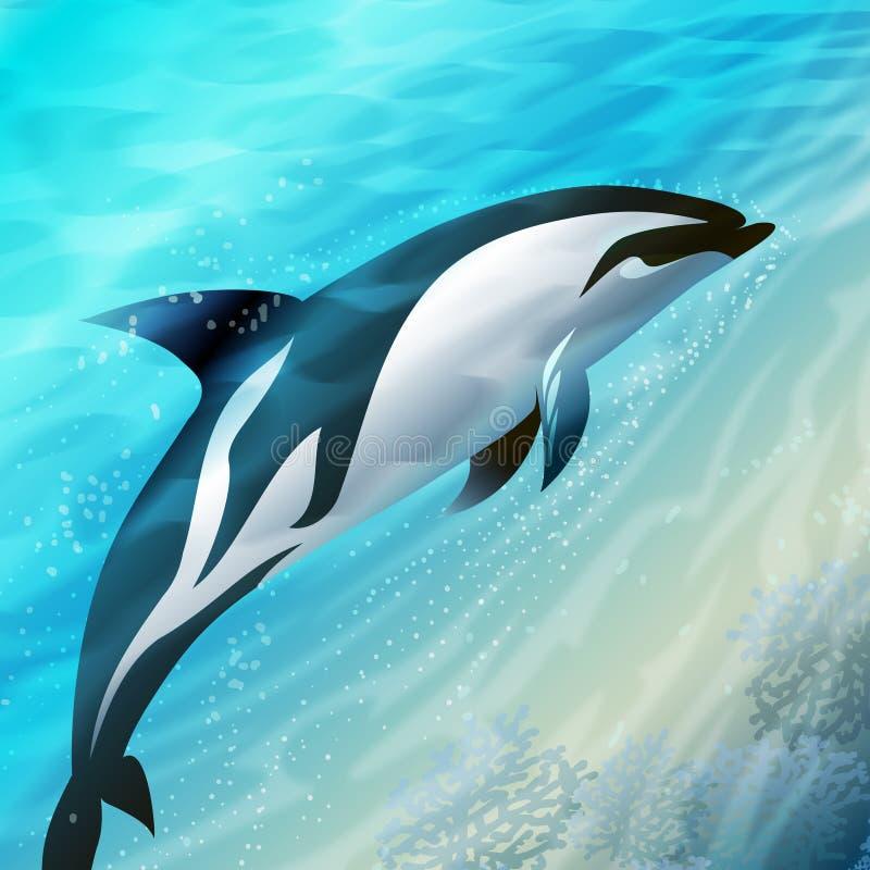 Skokowy delfin royalty ilustracja