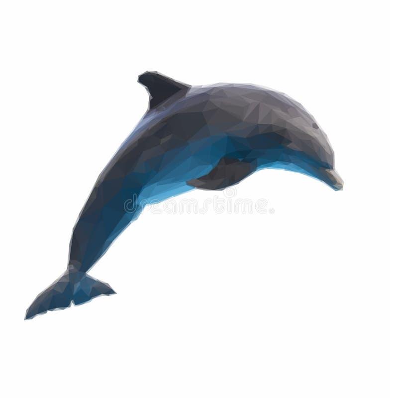 Skokowy delfin na bielu royalty ilustracja