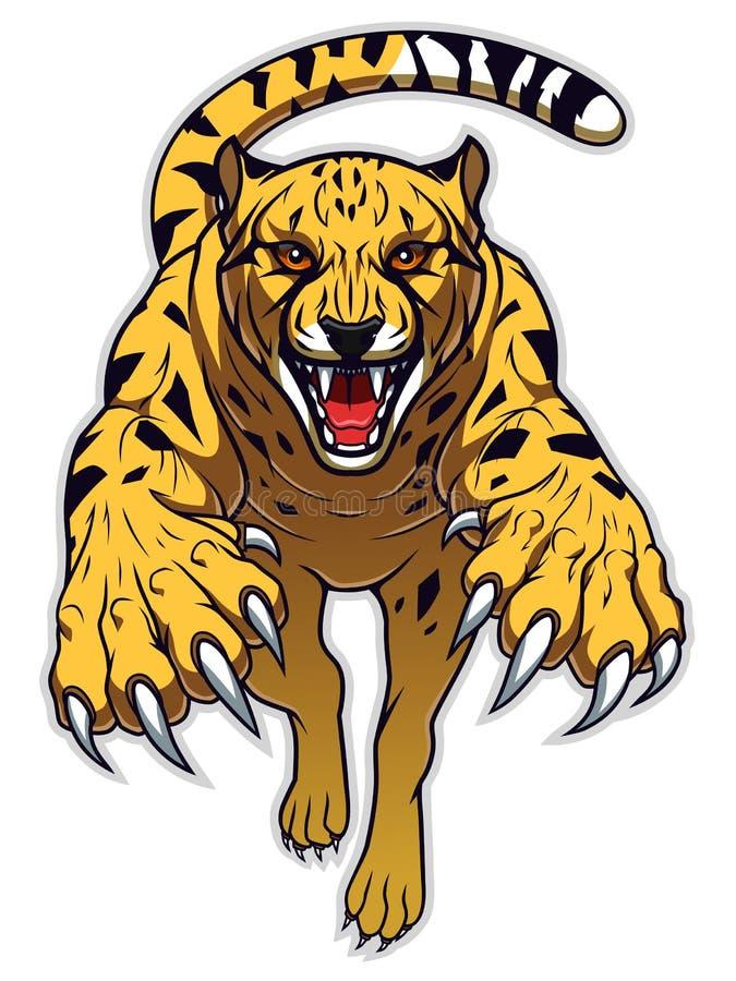 Skokowy gepard ilustracja wektor