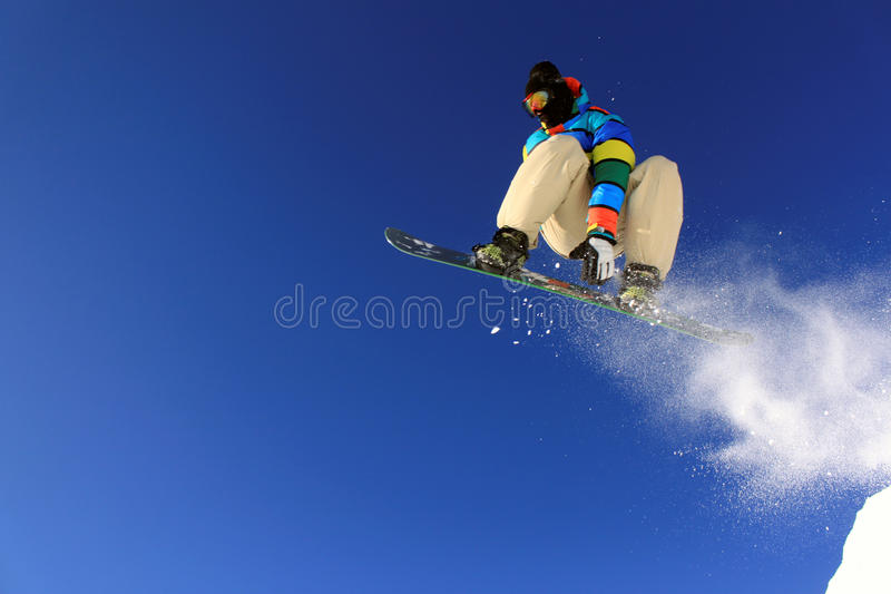 skokowy snowboarder obraz stock