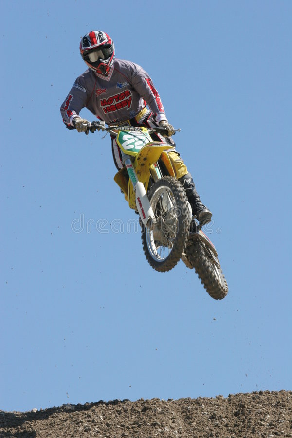 skoku motocross zdjęcie stock