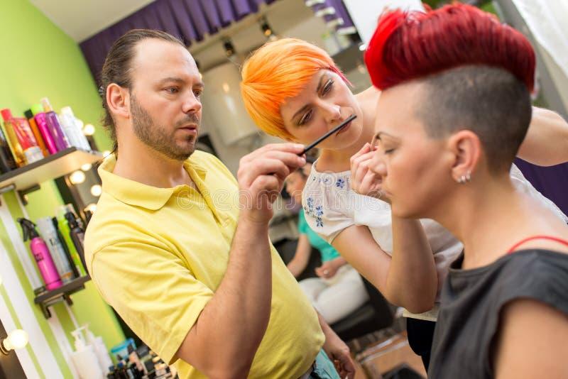 Skola av makeup royaltyfri foto