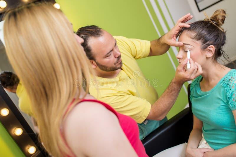 Skola av makeup arkivbilder