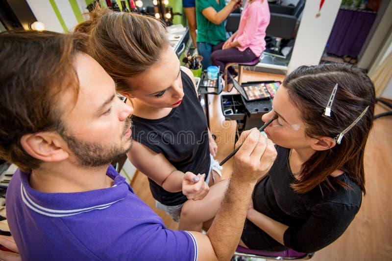 Skola av makeup royaltyfria foton