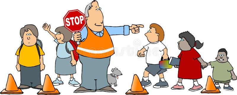 skola för crossingguard stock illustrationer