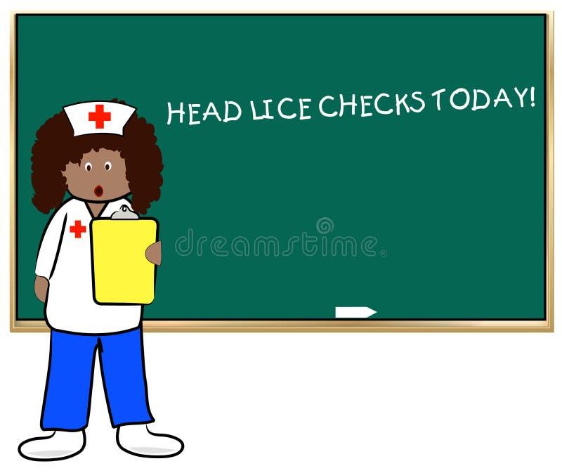 skola för head lice vektor illustrationer