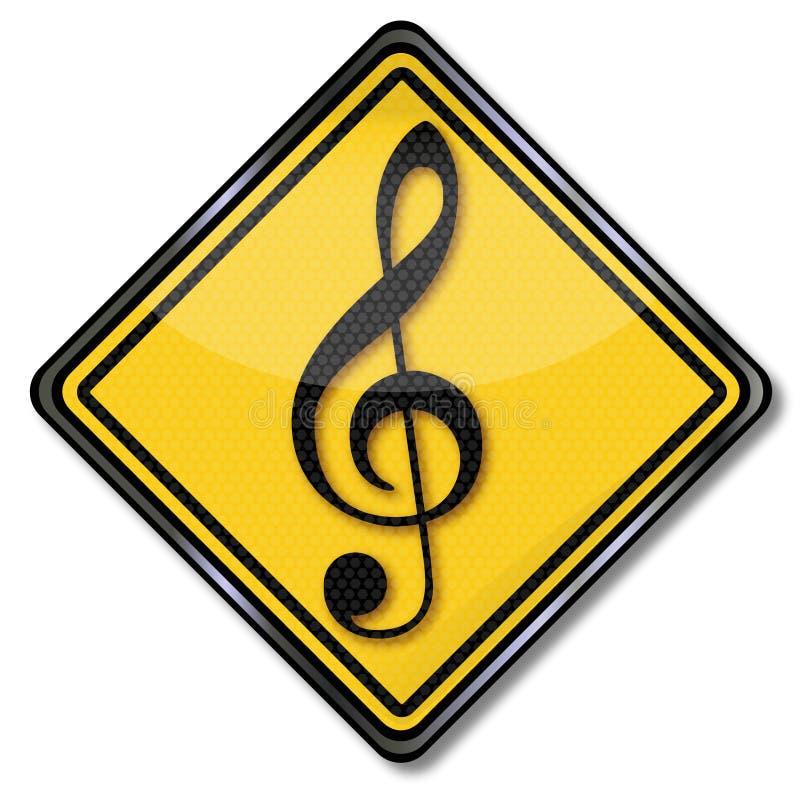 Skola för musikalisk anmärkning och musik stock illustrationer