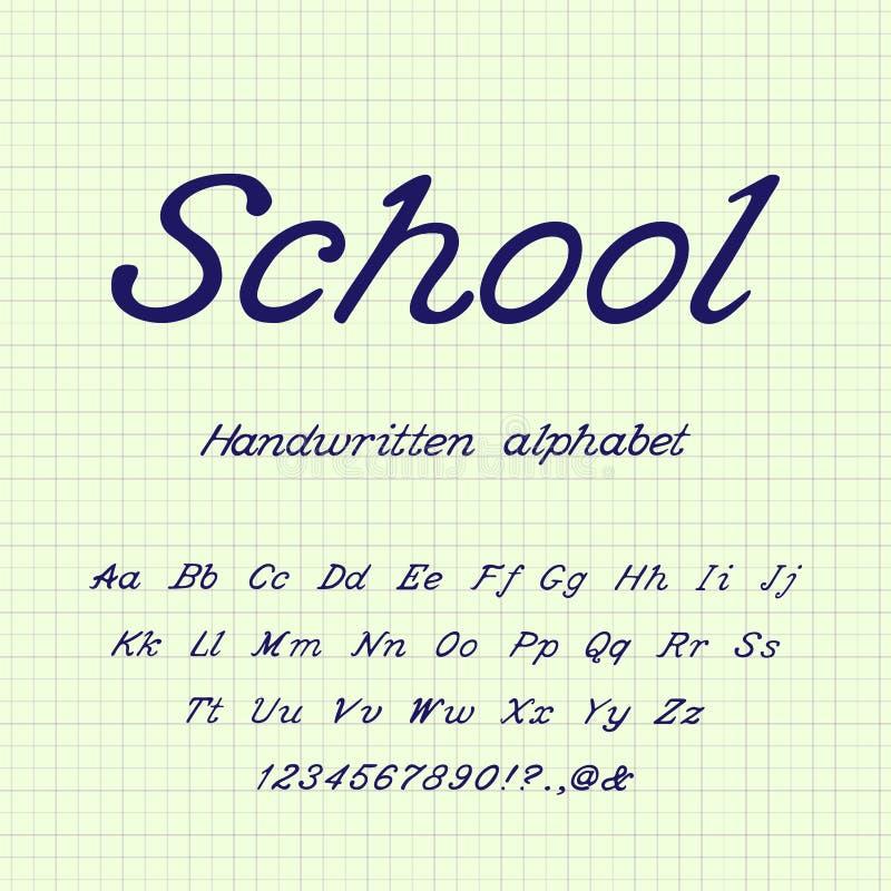 skola handskrivet alfabet ocks? vektor f?r coreldrawillustration vektor illustrationer