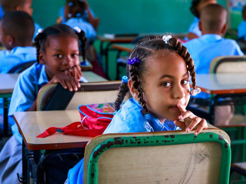 Skola i Dominikanska republiken royaltyfri fotografi
