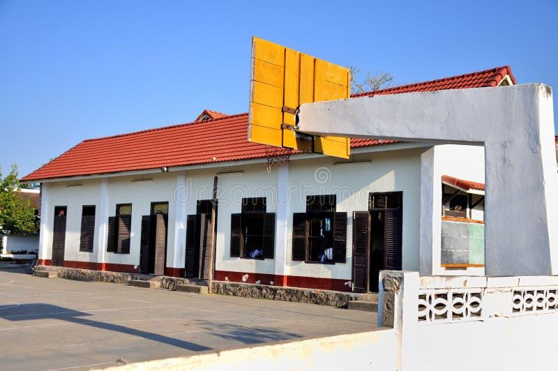 Skola i Laos royaltyfri fotografi