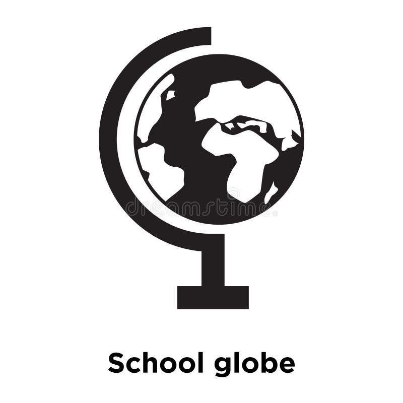 Skola jordklotsymbolsvektorn som isoleras på vit bakgrund, den conc logoen stock illustrationer